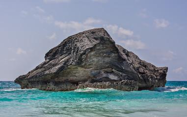 Large Rock in Horseshoe Bay, Bermuda