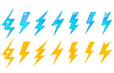Lightning icons and symbols