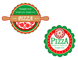 Italian pizza symbols and banners