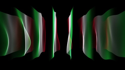 wonderful italian flag video animation - loop HD