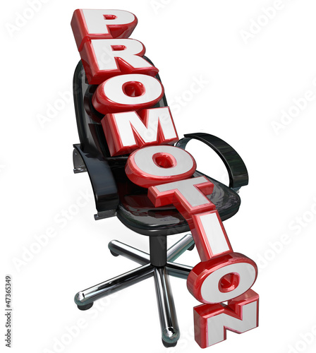 Promotion Word Office Chair New Job Reponsibility Opportunity