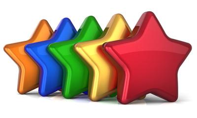 Five star 5 stars shape service award success decoration
