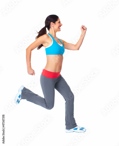 Jogging healthy woman.