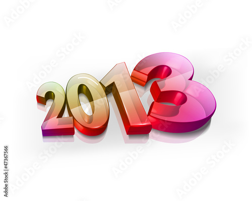 3d Happy New year 2013 background. Vector illustration