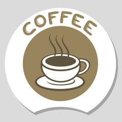 Elegant coffee icon