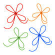 Set of bows. Isolated on white