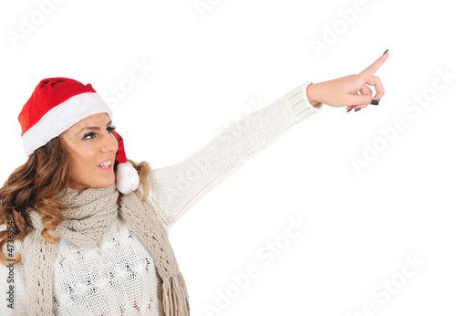 Isolated young christmas girl