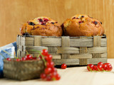 homemade muffins with currants