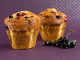 muffins with black currants