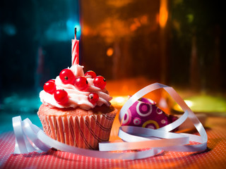 surprise cupcake with candle