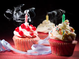 three surprise muffins smoke