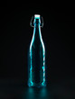 transparent blue bottle