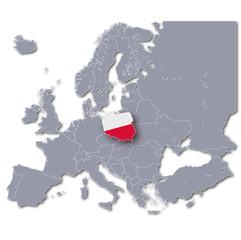 Europakarte Polen