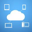 Cloud technology abstract scheme