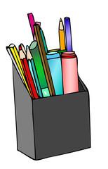 Porta matite e porta colori