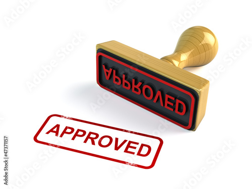 Approved stamp