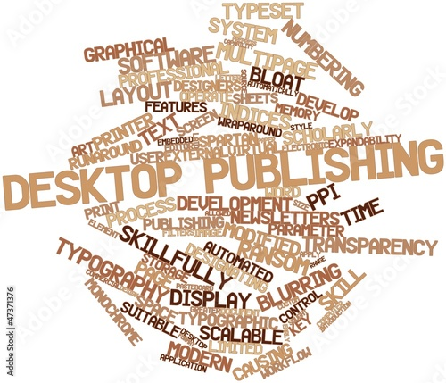 Word cloud for Desktop publishing