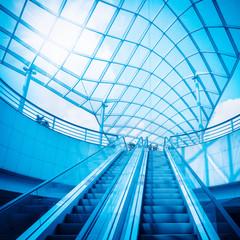 escalator and glass dome