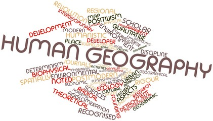 Word cloud for Human geography
