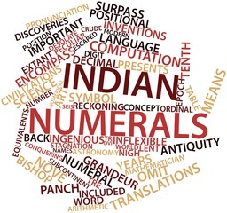 Word cloud for Indian numerals