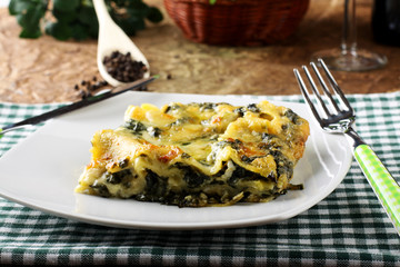 Lasagne with spinach and ricotta