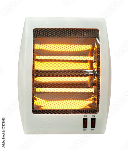 Electric heater white isolated