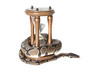 Python snake with hourglass