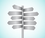 Directional signs vector