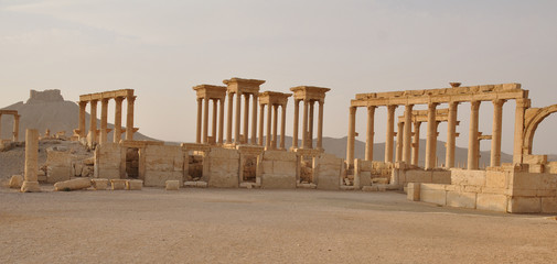 Ancient columns in Palmyra