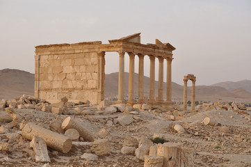 Funerary temple in Palmyra, Syria