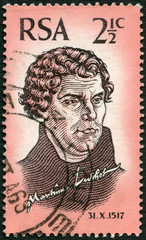 SOUTH AFRICA - 1967: shows Martin Luther (1483-1546)
