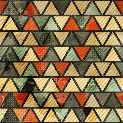 grunge triangle seamless pattern