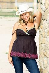 Flirty cowgirl