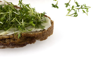 Cress and bread and butter