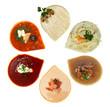Soup, top view - gourmet restaurant food