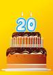 Anniversaire Gateau_20 ans