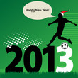 new year football, vector illustration