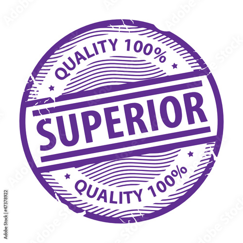 Stamp with the text Superior written inside the stamp, vector