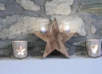 Candele di Natale in legno
