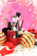 Christmas cosmetics
