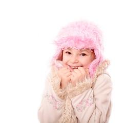 Kleine Dame warm eingepackt