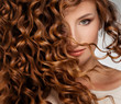 canvas print picture - Woman with Beautifull Hair