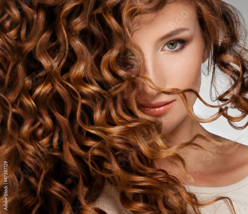 canvas print picture Woman with Beautifull Hair