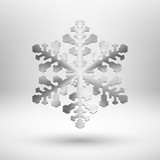 Abstract metal Chrismas snowflake