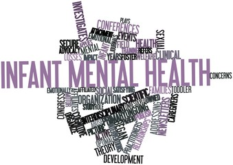 Word cloud for Infant mental health