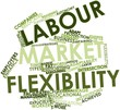 Word cloud for Labour market flexibility