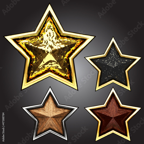 vector award star set