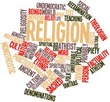 Word cloud for Religion