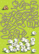 Sheep and Dog Maze Game