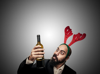 drunk modern elegant santa claus babbo natale